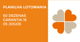 Planilha Lotomania - 60 Dezenas - Garante 16 - 05 Jogos