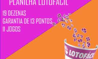 Planilha Lotofácil 19 dezenas