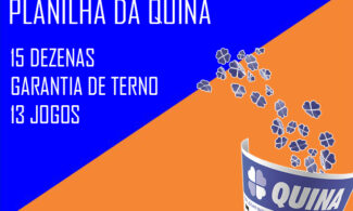 Planilha da Quina - 15 Dezenas - Garantia de terno