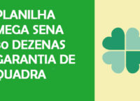 Planilha Mega Sena 30 Dezenas
