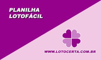 planilha lotofácil